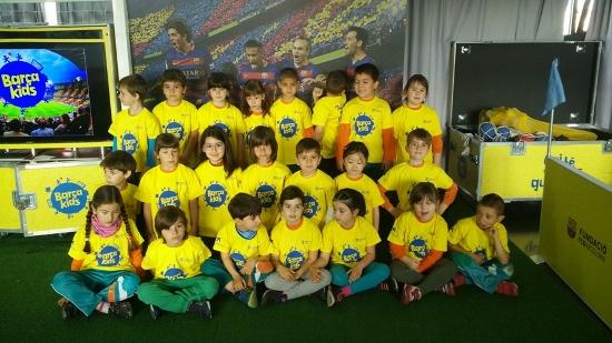 Els nens i nenes de primària hem anat al Barça Kids