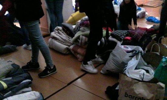 Recollida de roba per als refugiats