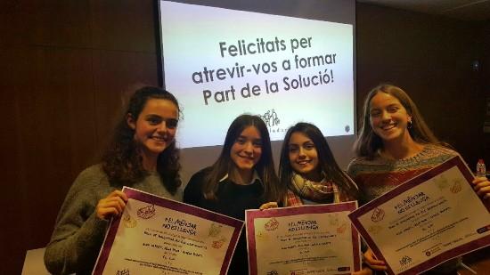 """Concurs """"El menjar no es llença"""": segon premi per als alumnes de 3r d'ESO"""