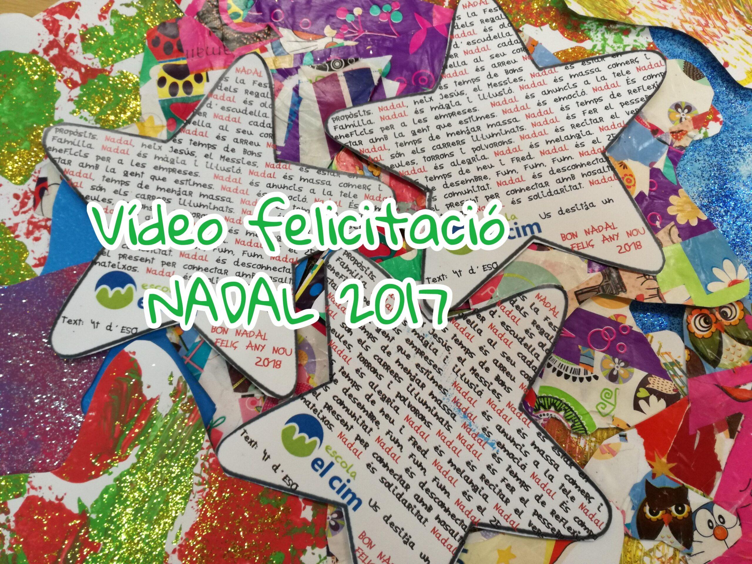 Vídeo felicitació de Nadal dels alumnes de l'escola
