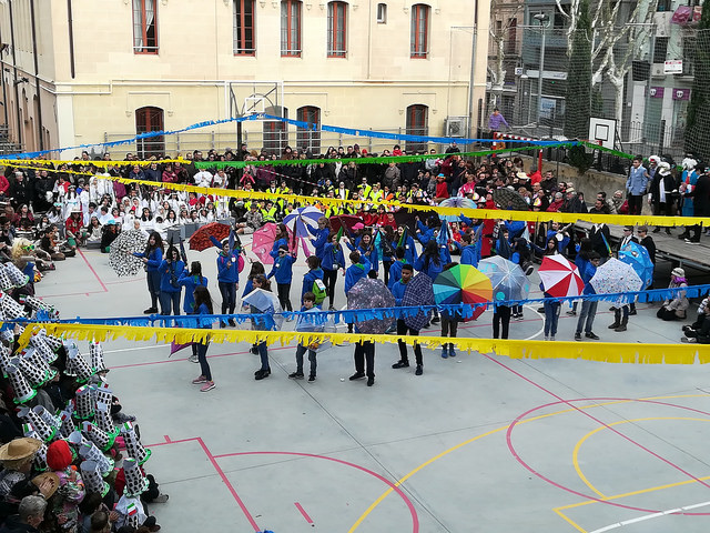 Celebració del Carnaval a l'escola