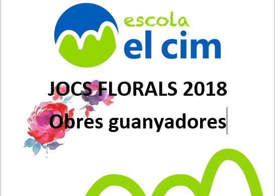 Obres guanyadores del Jocs Florals 2018