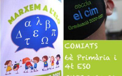 Comiats dels alumnes de 6è de Primària i 4t d'ESO